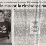 Francesco Garolfi Eco di Bergamo 1968 Odissea nel Rock